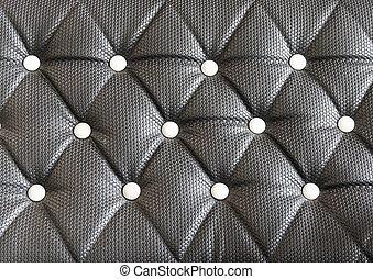 tapisserie ameublement, cuir,  Sofa, noir, fond, modèle