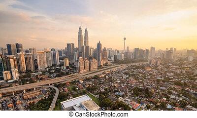 Kuala Lumpur Cityscape Sunset - Timelapse Kuala Lumpur...