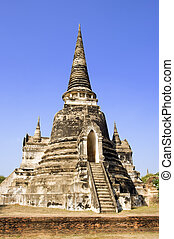 Wat Phra Si Sanphet - Ruins of the Buddhist temple of Wat...