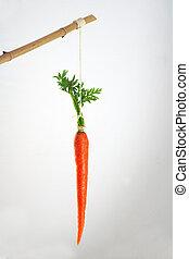 cenoura, vara, incentivo