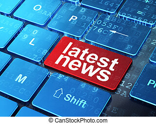 News concept: Latest News on computer keyboard background -...