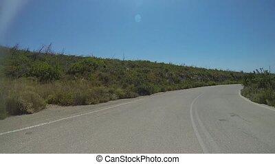 Mountain Road Near The Sea Coast