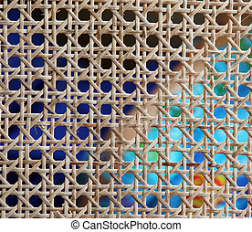 weaved bamboo pattern background