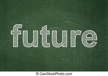 Time concept: Future on chalkboard background