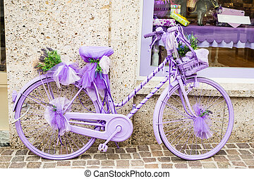 Lilac bycicle - a cheerful and girly lilac bycicle at the...