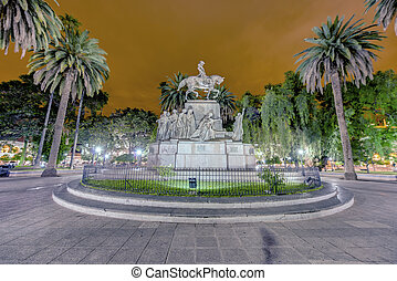 9 de Julio Square in Salta, Argentina - Juan Antonio de...