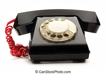 Old black telephone