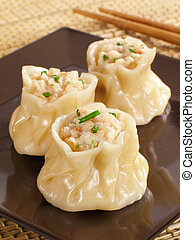 Crazy for Siu Mai - Steamed shrimp siu mai.