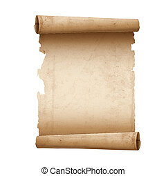 Vector illustration of ancient scroll paper