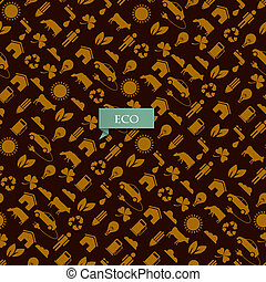 Vector seamless eco pattern
