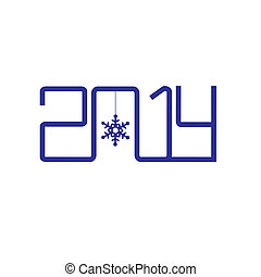 Creative design happy new year 2014
