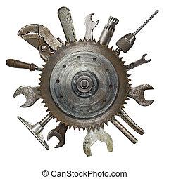 oxidado, herramientas
