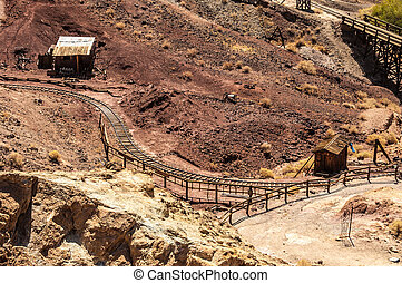 Mines - An ol industrial railway in Calico ghost town, a...