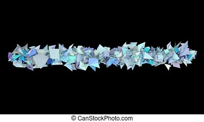 3d abstract blue spiked shape on black