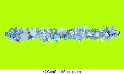 3d abstract blue spiked shape on green