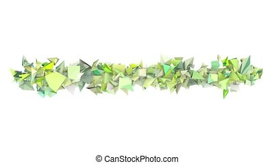 3d abstract green spiked shape on white