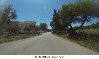 Village With Shops On Zakynthos - Driving Through A Village...