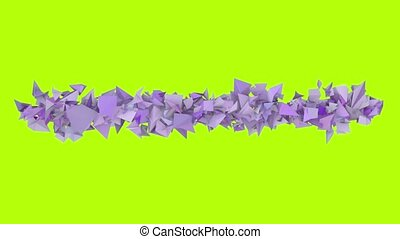 3d abstract purple spiked shape on green