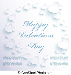 Hearts paper background