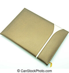memo book - Brown cover of memo book for use