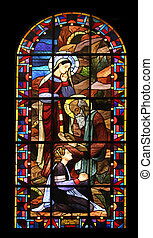 Saint Paule - Saint Jerome, stained glass