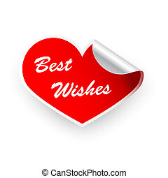 Sticker Valentines heart best wishes