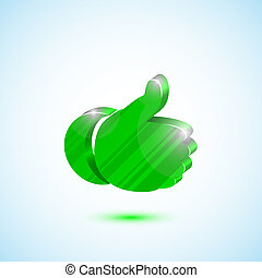 Human hand giving ok Green icon
