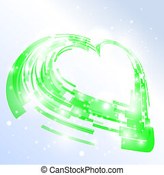 High-tech heart Vector illustration