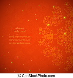 Red abstract flower background