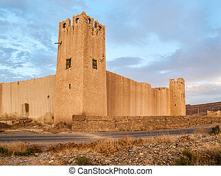 Kasbah - a small and ancient Kasbah in the moroccan sahara...