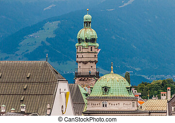 The City Tower in Innsbruck, Austria - The City Tower was...
