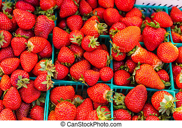 Strawberries for sale - Baskets of fresh strawberries for...