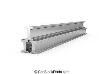 Steel girders isolated - 3d illustration of steel girders...