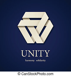 vector, unidad, papel, triángulo, icono,...