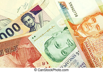 banknotes of Asian countries