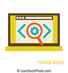 process of fixing bugs