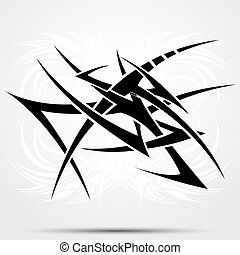 Tribal tattoo abstraction