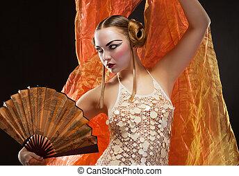 Portrait of a beautiful luxury woman