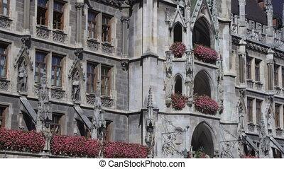 HD Munich Marienplatz - The main square in the center of...
