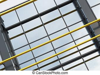 modern office building - glass facade of a modern office...