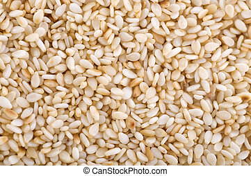 Sesame Seed. - Close up on a pile of dried Sesame Seed.