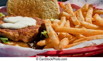 Crab cake And Fries