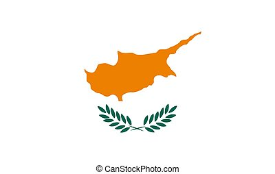Cyprus flag - Cyprus national flag Illustration on white...