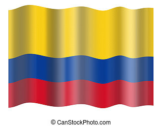 Flag of Columbia. Illustration over white background