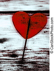 Valentines Day background with heart. - Valentines Day...