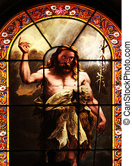 Saint John the Baptist, stained glass