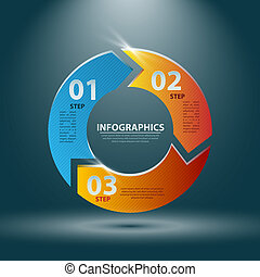 Abstract 3D Infographics. Vector illustration for your business presentation