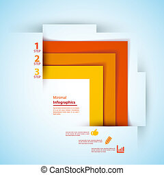 Modern Design template can be used for info-graphics Vector...