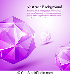 Cristal prism. Vector illustration for your business...