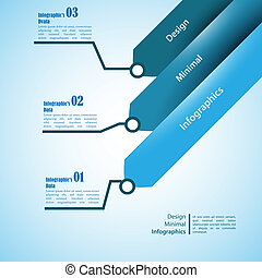 Three arrows, use for infographics. Can be used for...